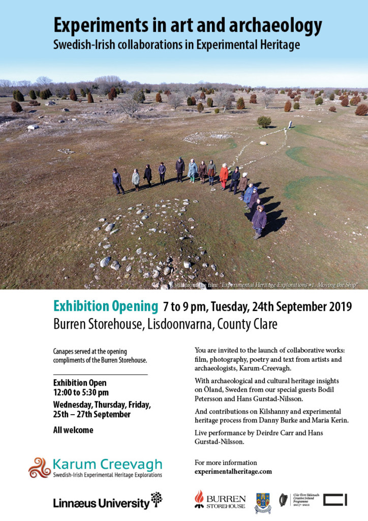 Karum Creevagh Burren Storehouse Exhibition poster
